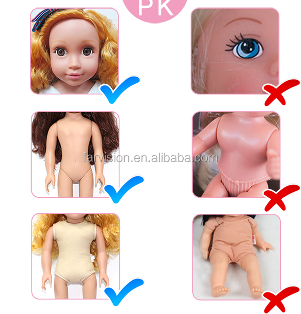 Usuful item kids playing toy plastic material chucky doll wholesale felt custom doll