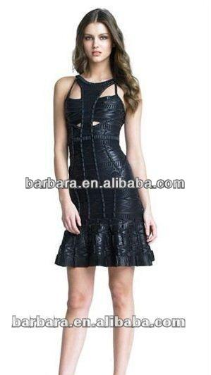 Barbara printed black 2012 turkish evening dresses factory supply for wholesale and OEM!