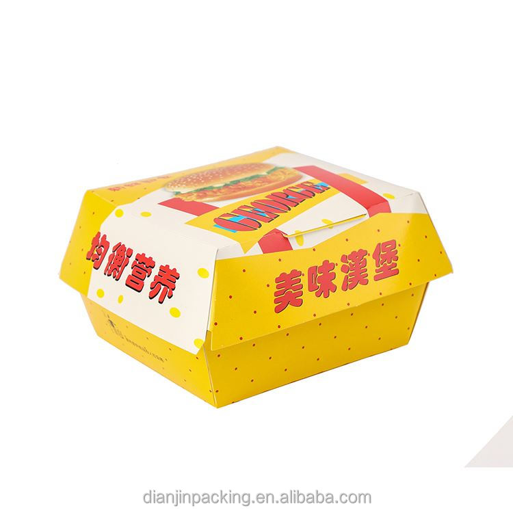 High end super quality naturally folding burger box
