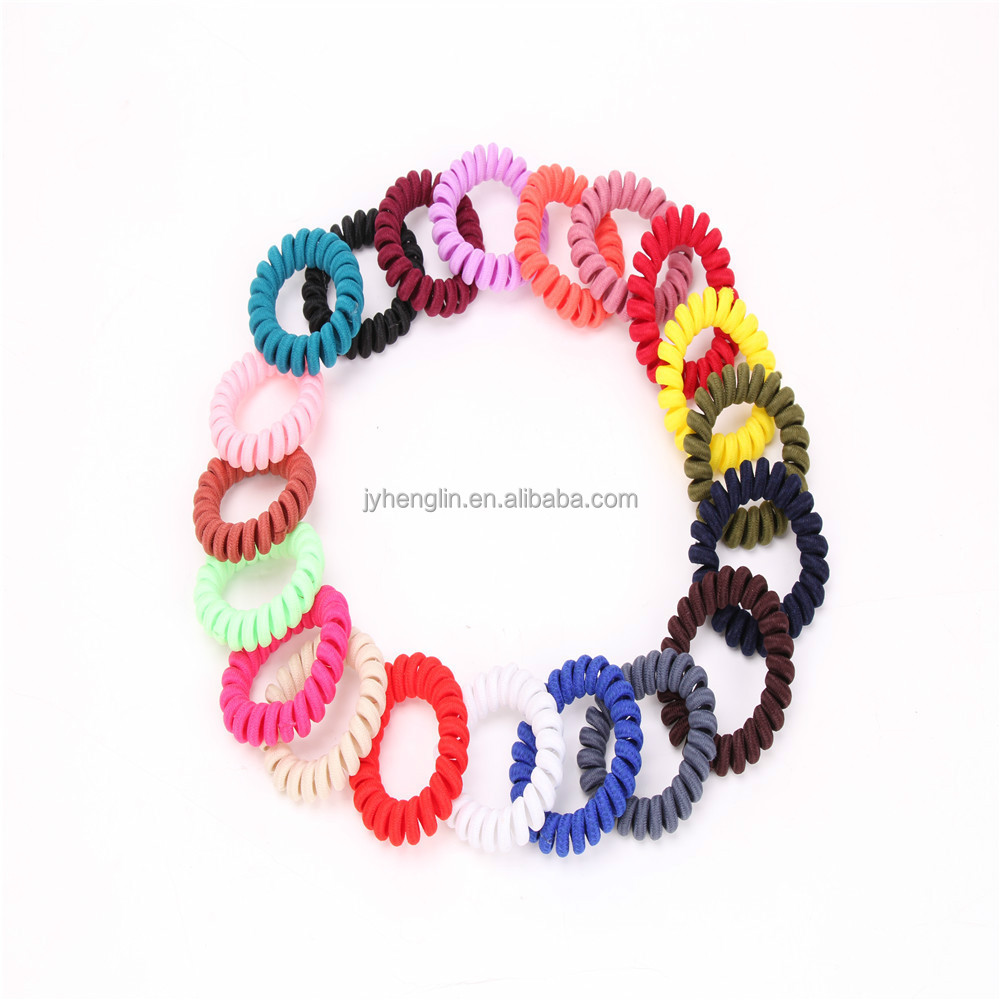 telephone cord line hair accessories telephone wire hair band Various colors are available