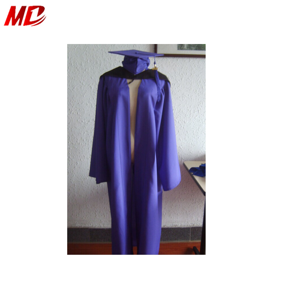 Superior Quality Graduation outfits , Matte Purple graduation set,gowns and caps