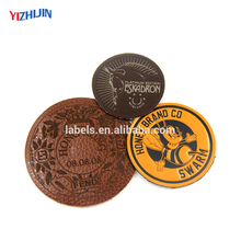 China Supplier OEM and ODM Fake Leather Label as Custom Design
