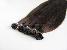 russian flat tip shape keratin pre bonded hair extension