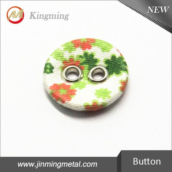 Two Hole Round Cloth Buttons For Garment