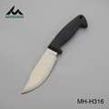 Stainless steel hunting knife with rubber handle