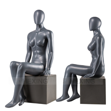 Abstract Face Beautiful Ladies Seated Female Mannequin Body Suit