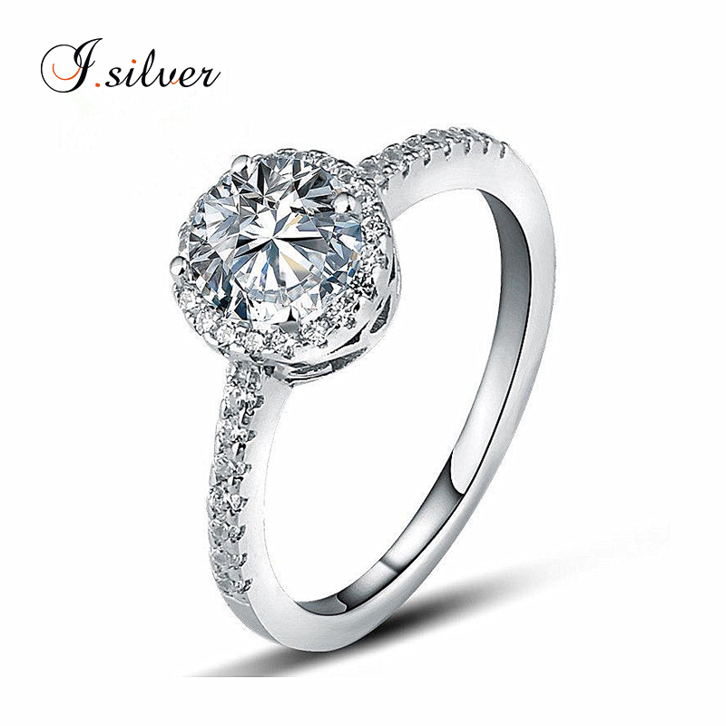 2016 Latest halo ring <strong>silver</strong> 925 with round cubic zirconia stone R30011