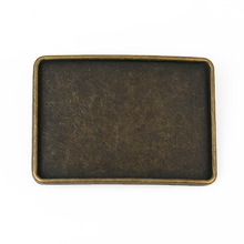 Plate Buckle For Men In Rectangle Gunmetal High quality Alloy For Wholesale YDM026
