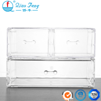 China credible supplier cosmetic display storage case wholesale acrylic makeup organizer with drawers