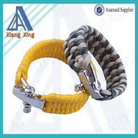 Different types unisex stainless steel clasps paracord bracelets