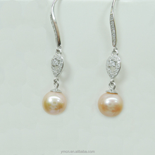 natural real beautiful pearl stone earring, 925 china jewelry silver, teardrop pearl necklace earring set