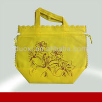 Promotional nonwoven flower pattern shopping bag wholesale 100% manufacturer