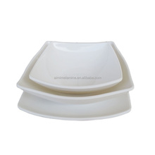 unbreakable melamine square plates with eggplant pattern