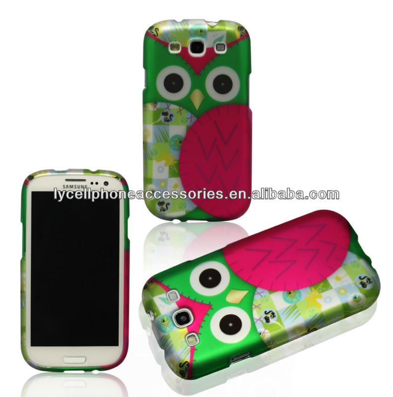 Hotsale night owl Design Case for Samsung Galaxy S3 i9300 Hard Phone Skin Covers