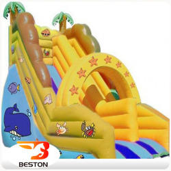 Giant inflatable pool slide fiberglass water slide for sale