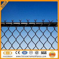 High quality low cost chain link black vinyl fencing