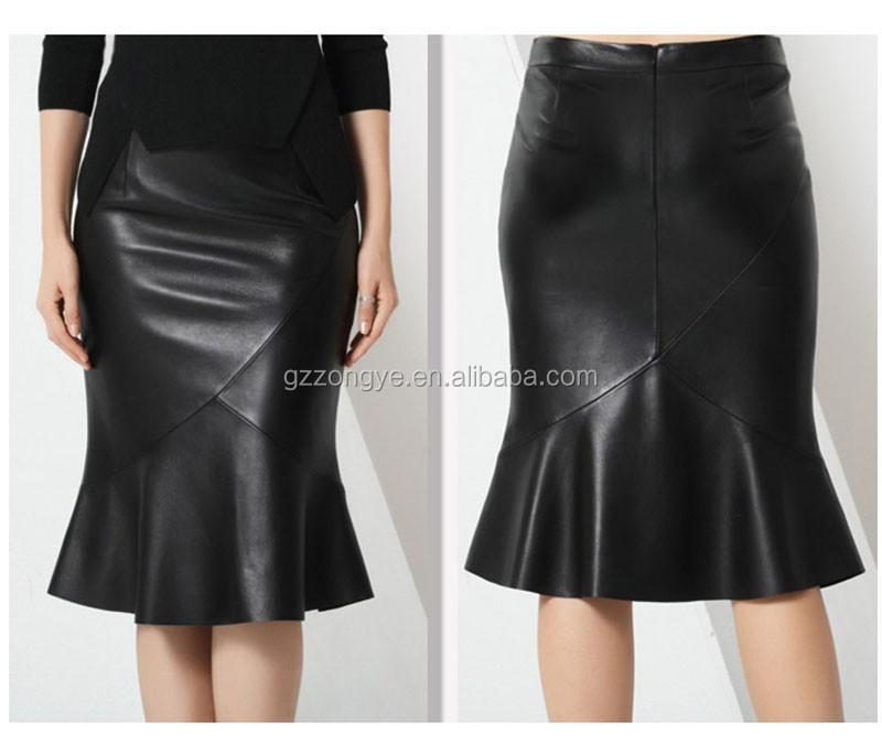 Unique hem club skirt pictures of ladies long leather skirts