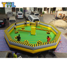 8 personas inflable meltdown venta/inflable wipeout juego para la fiesta
