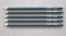 HB round wooden imprinted pencils without eraser
