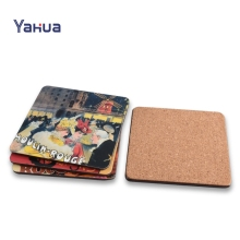 Cork Wood Promotion Custom Tea Coaster / Cup Mat / Cup Pad