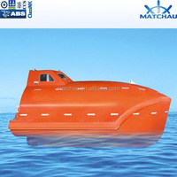 SOLAS Totally Enclosed Fire Protected Free Fall Life Boat with Davit