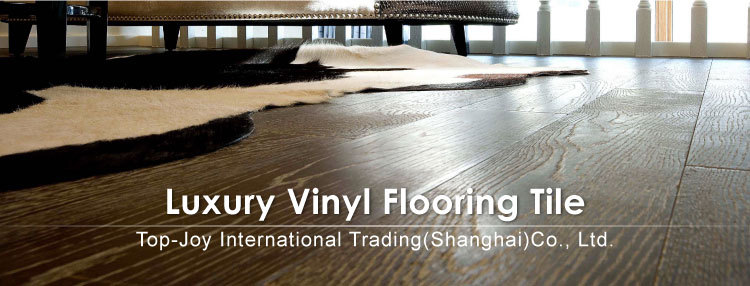 Top Joy Wood Grain PVC Interlocking Click Floor Tiles