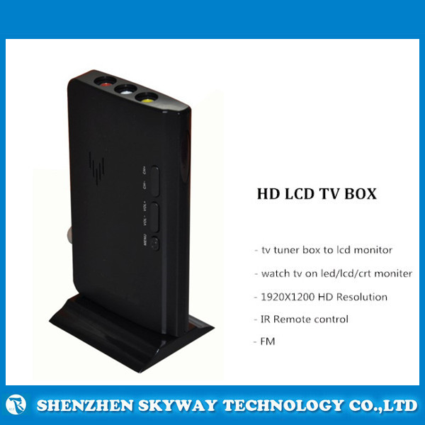 Smart HD LCD TV Box with IR Remote , HD LCD TV tuner Box