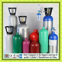High Pressure Seamless Aluminum Gas Cylinder For Medical Oxygen
