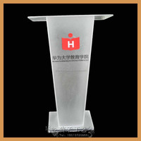 electronic portable acrylic table top lectern for amusement