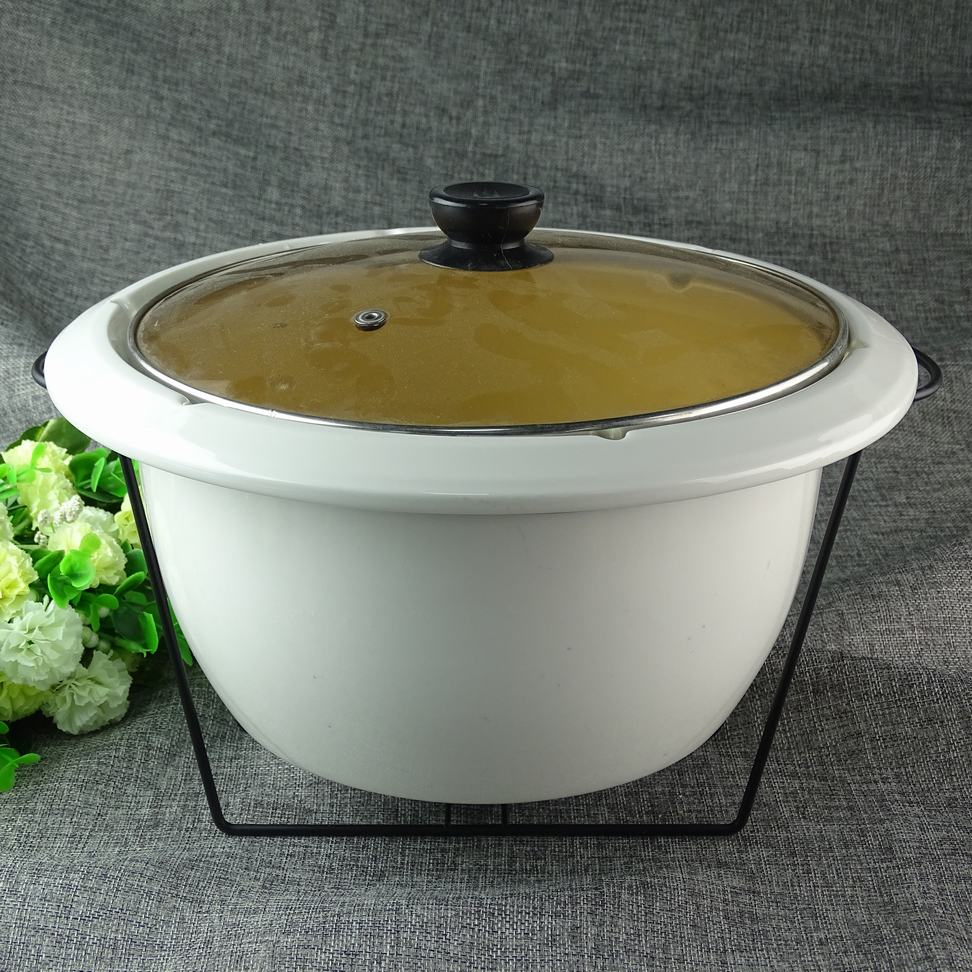 cheap hot sale white ceramic soup tureen with iron stander for heating