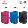 Hot sell cheap polyester 2 wheels foldable trolley bag
