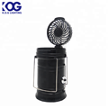 New style Multifunctional mini fan solar light 4 color and 6 white LED telescopic camping lamp