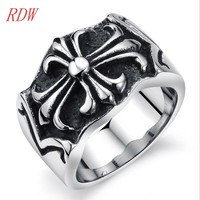 Good Looking And Charming High Quality Cross Ring For Biker Men