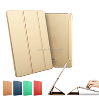Bright Color Leather Case For Ipad air ,Ultra Light Slim Leather Cover For Ipadair2 case