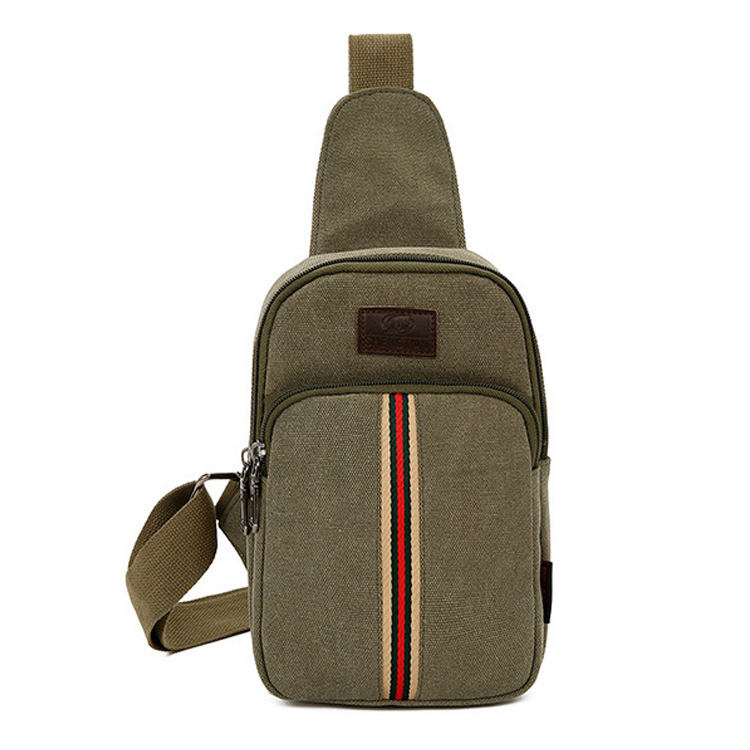 Fashion style canvas sling chest bag sports canvas one shoulder strap backpack for travelling
