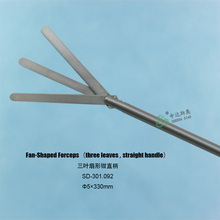 2014 latest products Nosocomial Equipment abdominal surgery retractor Biopsy Instruments straight handle Fan-shaped forceps