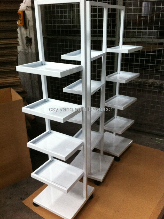 Cosmetic display stand small metal show stand color show stand