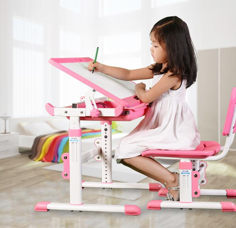 Ergonomic adjustable kids furniture study table and chairs - Kids study table and chair ...