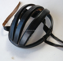 Real leather vintage bicycle helmet