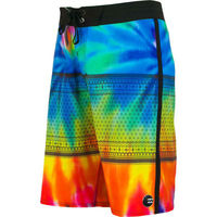 Custom printed flame board shorts hawaiian printed coconut
