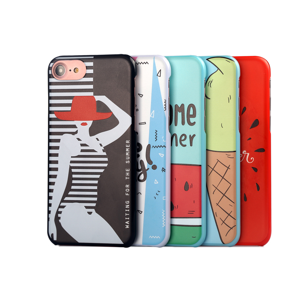 2017 most popular custom trendy universal mobile phone cover accessory uv printing case for iphone 7/7+/8 free sample phone case