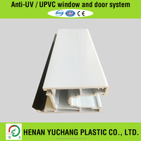 Steel Plastic Extrusion UPVC Profile For Window and Doors