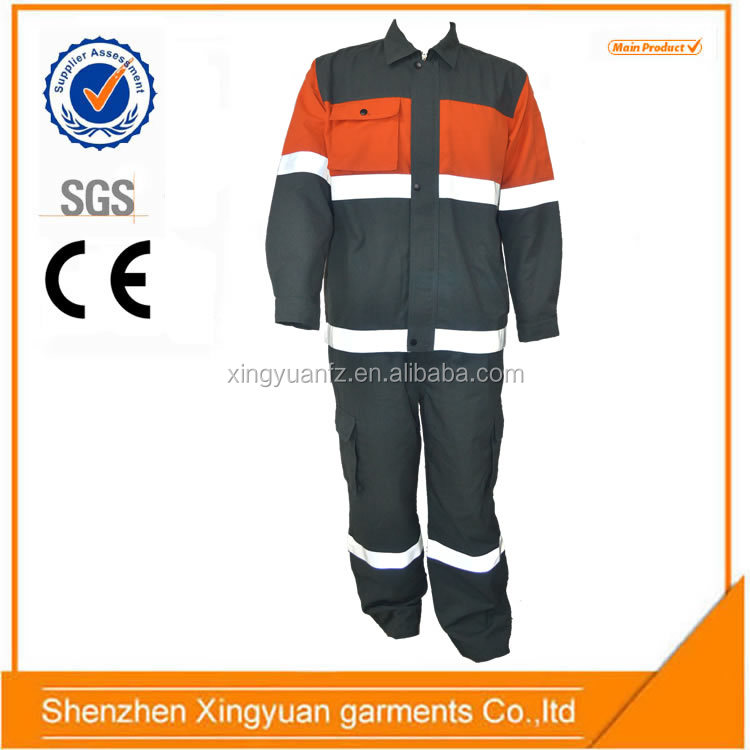 Aramid IIIA oil field refinery safety work wear with reflective strips