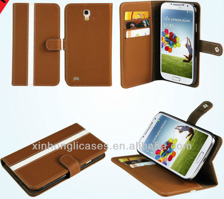 For Samsung galaxy S4 Flip Stand Card Wallet PU Leather Pouch Case Cover