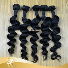 Hot beauty 7a high quality virgin raw unprocessed malaysian loose wave hair