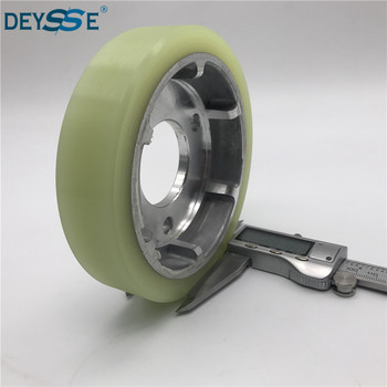 Best technology small rubber drive wheels mitsubishi escalator shock absorption roller parts