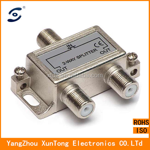 2 way 5-2500MHz RF CATV Cable TV splitter