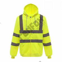 <strong>safety</strong> zip up hoodies wholesale for worker workwear with pocket