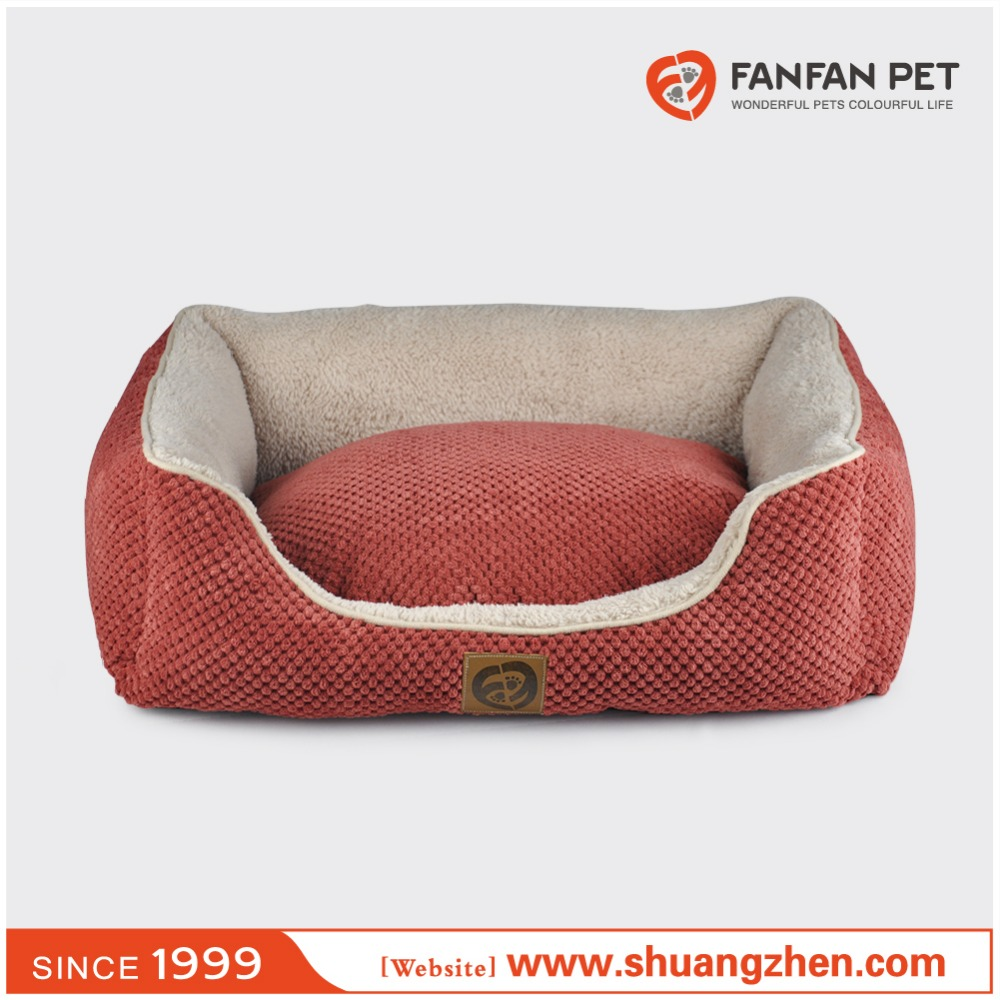 New product for sale bump chenille fabric red handmade dog pet sofa bed