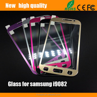 2.5D Titanium alloy brushed metal Tempered Glass Screen Protector for samsung i9082